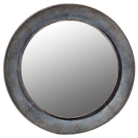 Industrial Style Round Metal Mirror Country Home Interiors
